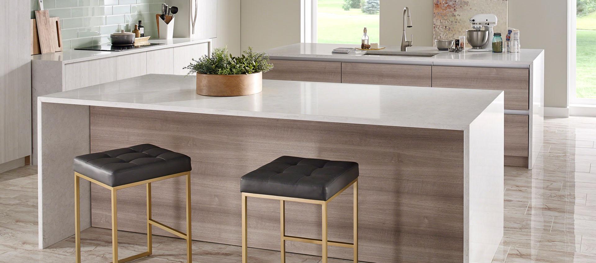 Premium natural quartz countertops wilkes barre kitchen for 2 inch quartz countertop